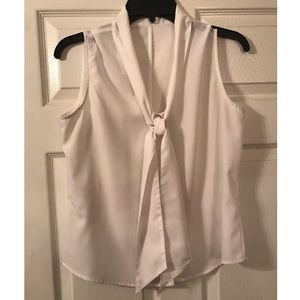 Calvin Klein sleeveless tie neck top